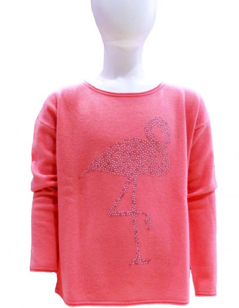 Pullover Grace Crew- Pink Flamingo