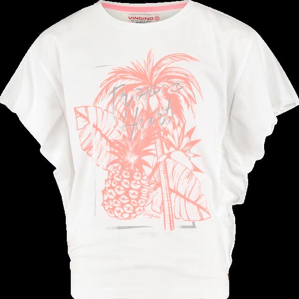 Mädchen T-Shirt Halina Real White