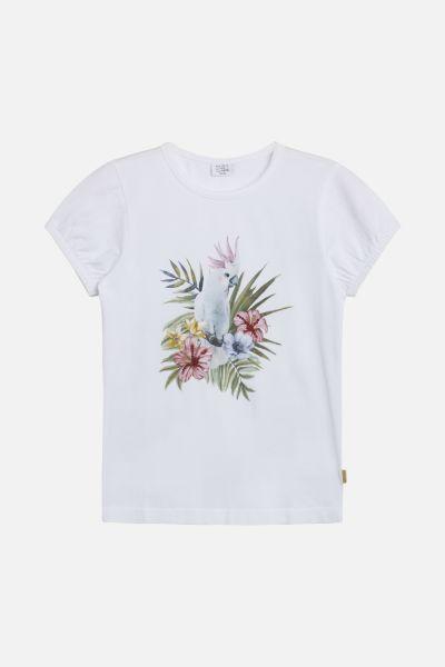 Shirt mit glitzerndem Kakadu