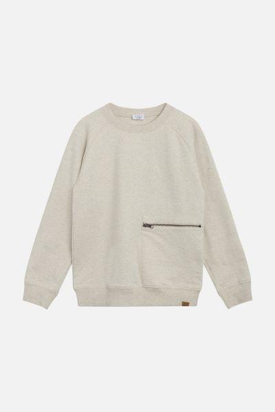 Sweatshirt mit Reißverschlußtasche